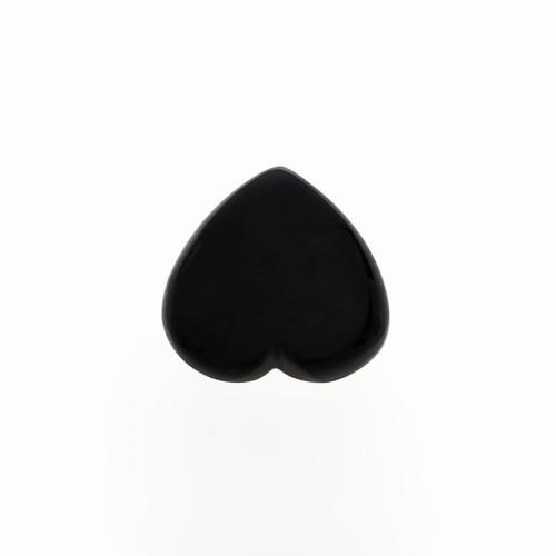 Black Onyx Heart Cabochon 18X18 mm  13.51 Carats GSCBON006