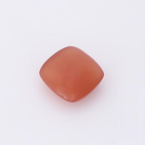 Peach Moonstone Cushion Cabochon 14X14 mm 10.24 Carats GSCCM0025