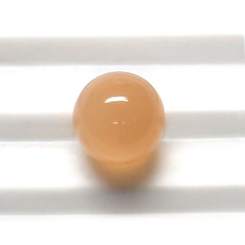 Peach Moonstone Round Beads 9X9 mm 5.24 Carats GSCCM0028