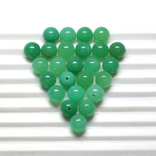 Chrysoprase Round Beads 9X9 mm 25Piece 119.29 Carats GSCCRP008