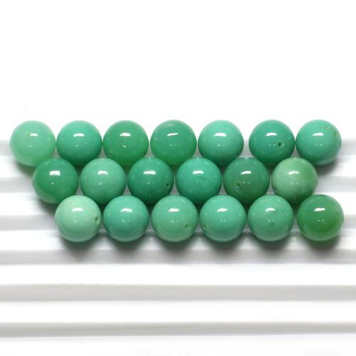 Chrysoprase Round Beads 10X10 mm 19 Piece 133.10 Carats GSCCRP009