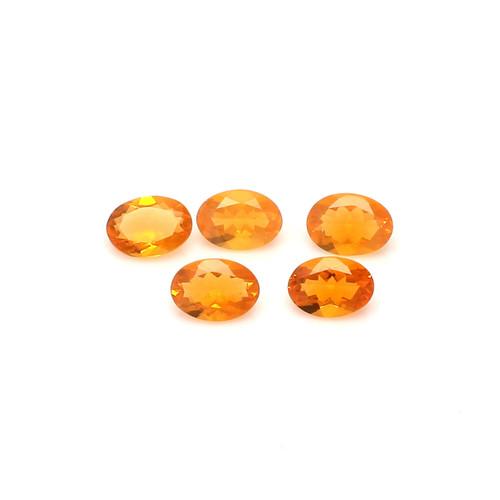 Fire Opal 6X8 mm 5 Piece DSCFO010