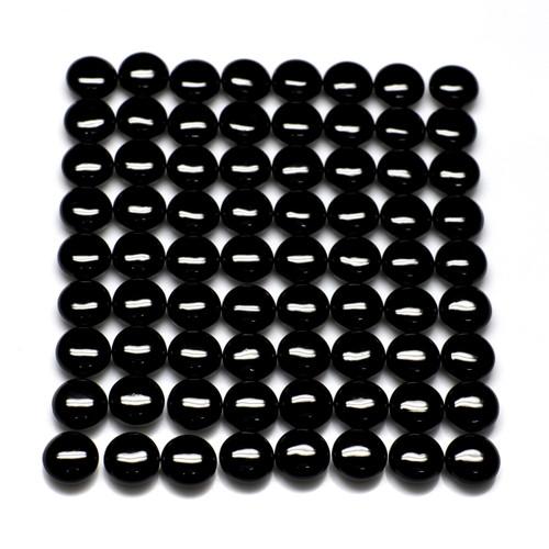 Black Onyx Round Cab 8X8 mm 72 Piece 139.64 Carats GSCBON016