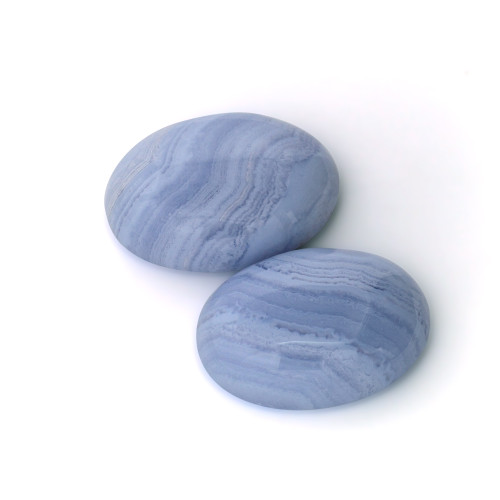 Blue Lace  Agate Oval 23X30 mm 2 Piece 82.06 Carats GSCBLA001