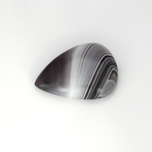 Grey Lace Agate Pear Cabochon 20X28 mm 29.98 Carats GSCGLA004