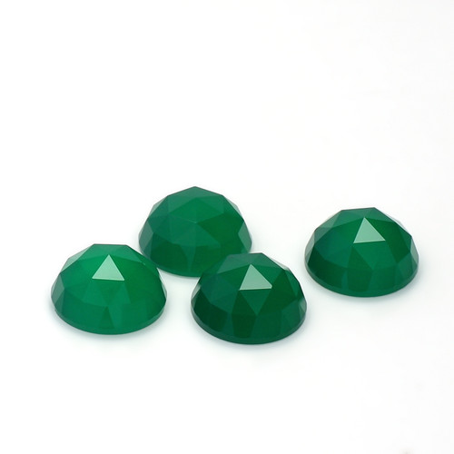 Green Onyx Highdom Faceted  10X10 mm 4 Piece 13.45 Carats GSCGON002