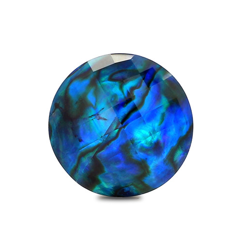 Abalone Round Checkerboard 18X18 mm 12.12 Carats GSCABL002