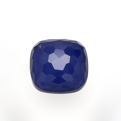 Lapis Lazuli + Crystal Blue Faceted Cushion 14X14 mm 9.07 Carats  GSCLP003