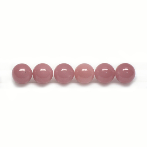 Guava Quartz Round  Beads 10X10 mm 6 Piece 42.60 Carats GSCGQ009