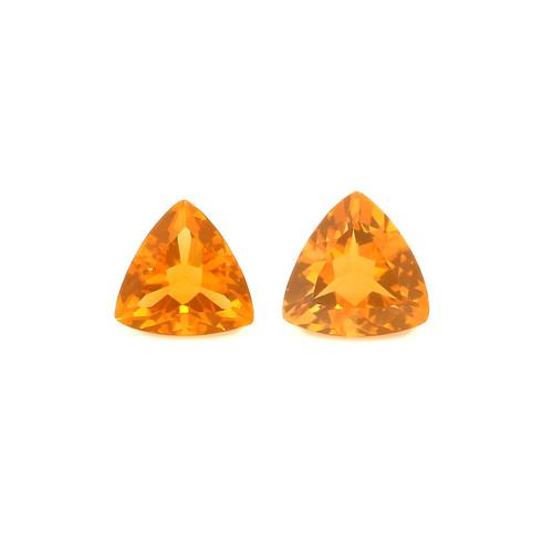 Fire Opal Trillion Faceted 6X6 mm 2 Piece 1.00 Carats GSCFO022