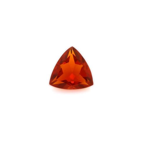Fire Opal Trillion Faceted 6X6 mm 0.41 Carats GSCFO025