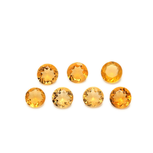 Fire Opal Round Faceted 4X4 mm 59 Piece 10.68 Carats GSCFO026