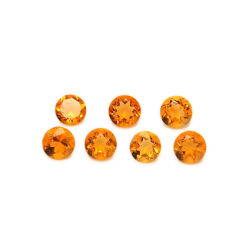 Fire Opal Round Faceted 4X4 mm 102 Piece 18.95 Carats GSCFO027