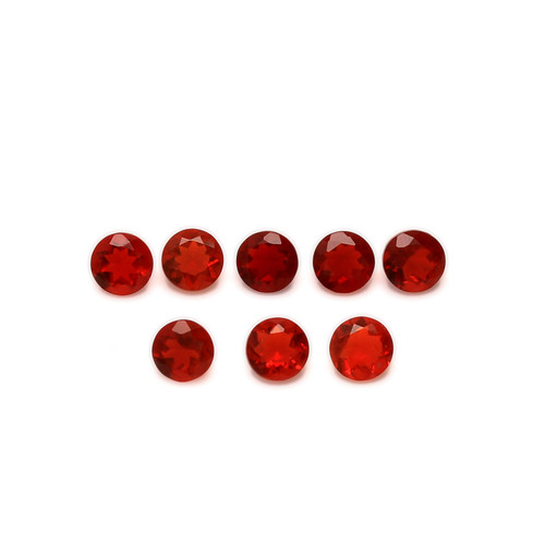 Fire Opal Round Faceted 4X4 mm 41 Piece 7.20 Carats  GSCFO029
