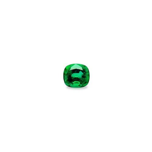 Emerald Cushion Cut Faceted 10X10.30 mm 4.39 Carats GSCEM0026