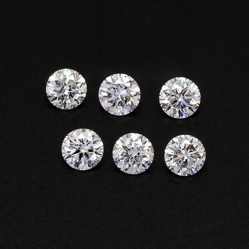 Natural Diamond G-H VVS Round Cut  4 mm 75 Piece 18.75 Carats GSCND006
