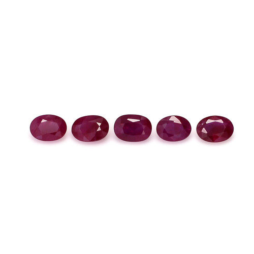 Ruby Oval Faceted 5X7 mm 5 Piece 4.20 Carats GSCRUB0004