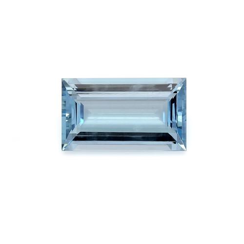 Aquamarine Baguette Faceted 10X17 mm 7.88 Carats GSCAQ120