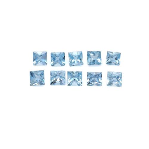 Aquamarine Square Faceted 4X4 mm 10 Piece 2.99 Carats GSCAQ128