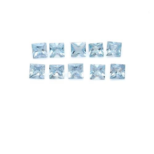 Aquamarine Square Faceted 4X4 mm 10 Piece 3.02 Carats GSCAQ129