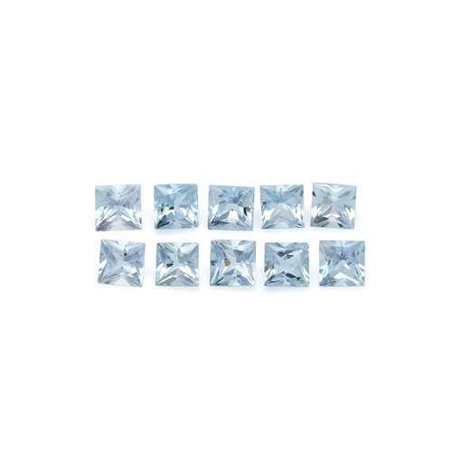 Aquamarine Square Faceted 4X4 mm 10 Piece 3.06 Carats GSCAQ131