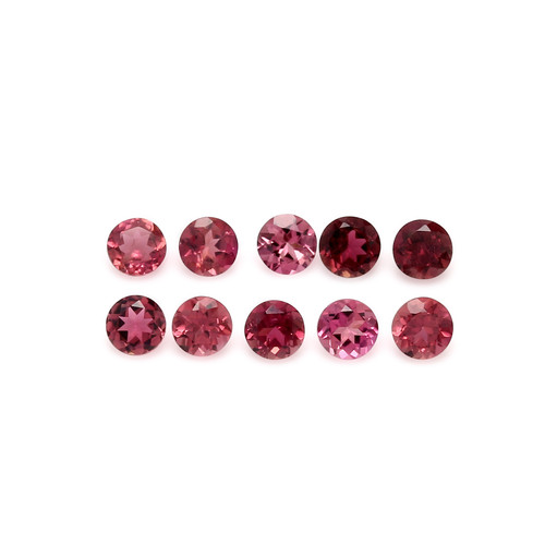 Tourmaline Pink Faceted Round 4X4 mm 10 Piece 2.57 Carats GSCTO295