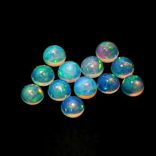 Ethiopian Opal Round Cabochon 5X5 mm 12 Piece 3.63 Carats  GSCEOP031