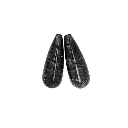 Rutile Briolette/Drops Cabochon 7X20 mm 13.35 Carats GSCRTL001