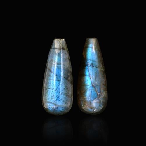 Labradorite  Briolette / Drops Cabochon 18X7 mm 13.85 Carats GSCLB006