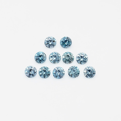Natural Blue Zircon Round Faceted 4X4 mm 11 Piece 3.97 Carats GSCNZ003
