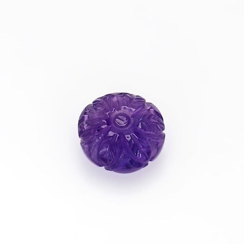 Amethyst Round Carving 10X10 mm 3.79 Carats GSCAM044