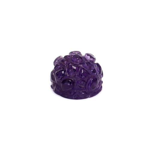 Amethyst Round Carving 13X13X9 mm 10.67 Carats GSCAM045
