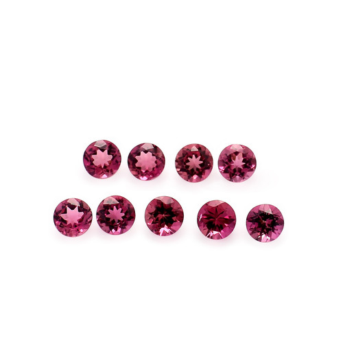 Pink Tourmaline Round Faceted 5 mm 100 Piece 50.08 Carats GSCTO303