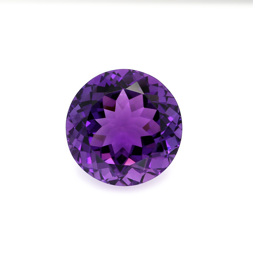 Amethyst Round Faceted  24X24X15 mm  43.95 Carats GSCAM047