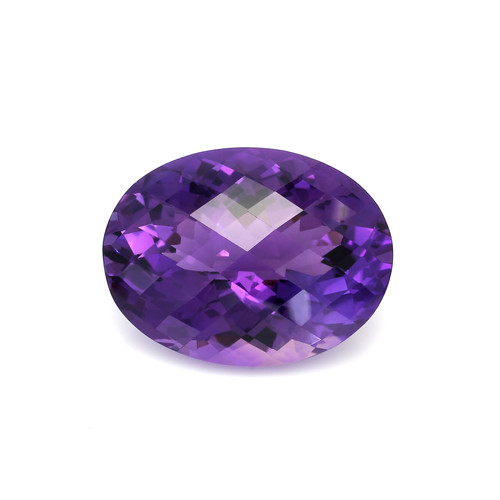 Amethyst Oval Checkerboard  32X24X18 mm  67.55 Carats GSCAM048