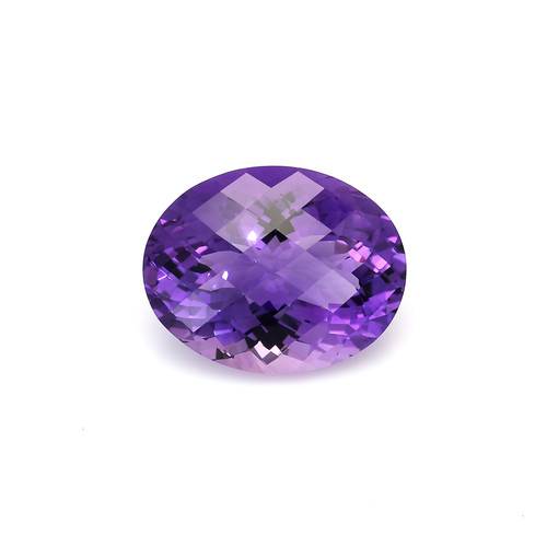 Amethyst Oval Checkerboard  24X19X13 mm  30.30 Carats GSCAM049