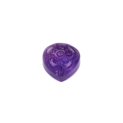 Amethyst Pear Carving  12X12 mm  7.53 Carats GSCAM050