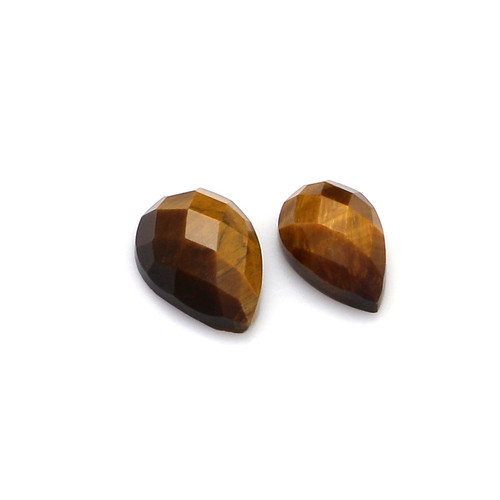 Tiger Eye Faceted Pear 6X9-7X10 mm 2 Piece 3.55 Carats GSCTE002