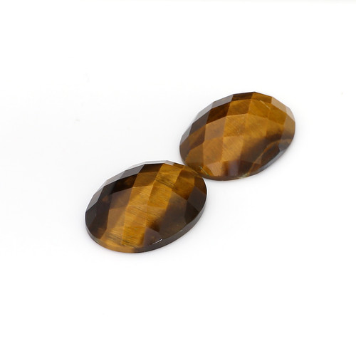 Tiger Eye Checkerboard Oval  15X20 mm 27.49 Carats GSCTE006