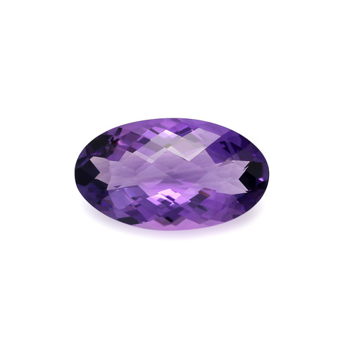 Amethyst Oval Checkerboard  28X16X11 mm 26.16 Carats GSCAM052