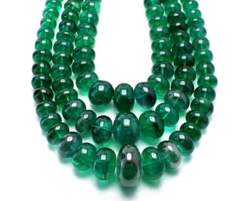 Emerald Round Beads 18.60X6.40 mm 3 Line 879.88 Carat GSCEM0032