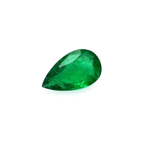 Emerald Pear Faceted 8 X13 mm 2.55 Carats GSCEM0062