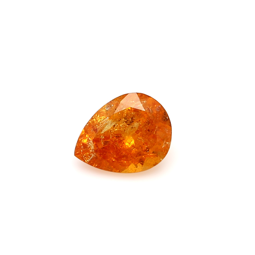 Spessartite Pear Faceted  7 X  9 mm  2.16 Carats GSCSPS028