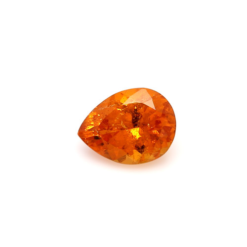 Spessartite Pear Faceted  7 X  9 mm  2.37 Carats GSCSPS031