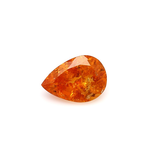 Spessartite Pear Faceted  7 X  9 mm  2.35 Carats GSCSPS034