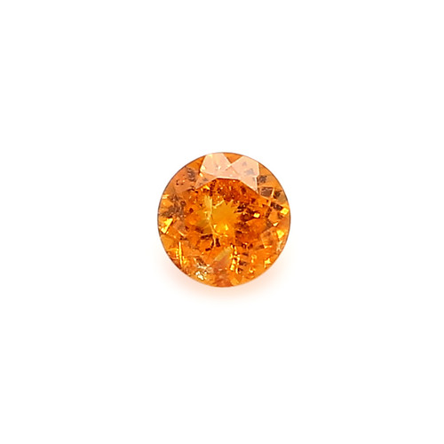 Spessartite Round  Faceted 7 X 7 mm 1.70 Carats GSCSPS037