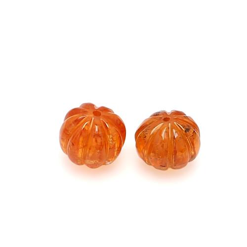 Spessartite  Watermelon Carving  8.5 X 8.5  mm 11.25 Carats GSCSPS040