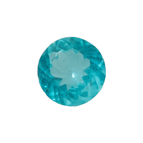 Apatite Blue Round Faceted 8 x 8 x 4.9 mm 2.35 Carats  GSCAPB003