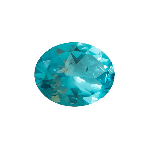 Apatite Blue Oval Faceted 10 x 8 x 4.9 mm  2.35 Carats GSCAPB004