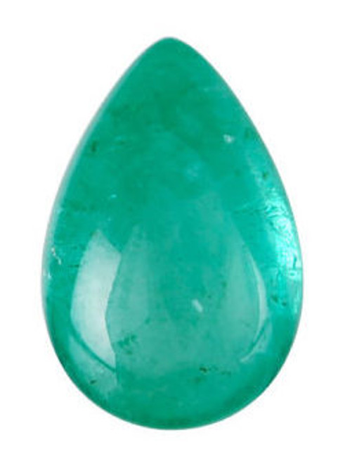 Emerald Pear Cut Cabochon 5.34 Carat